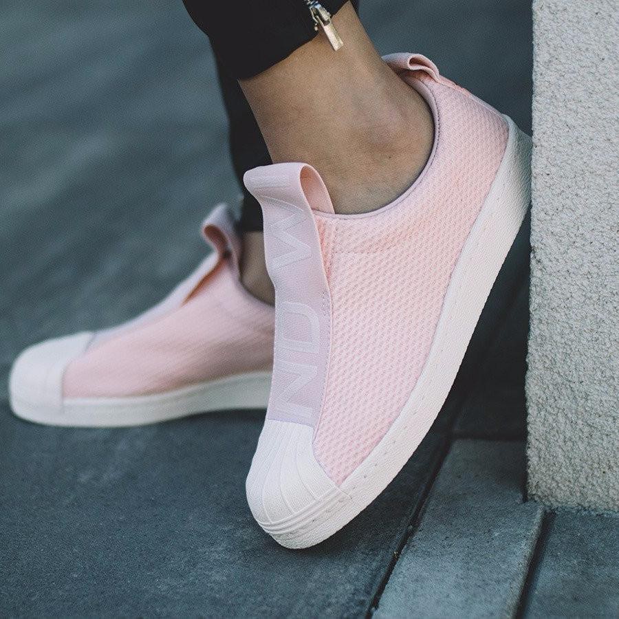 Adidas Superstar BW35 Slip On 'Ice Pink/Ftwr White/C