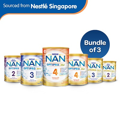 NAN OfficialBundle of 3 [Nestle] Nan Optipro 2/3/4 and Optipro H A  2/3  Growing up Milk / Follow-up Formula