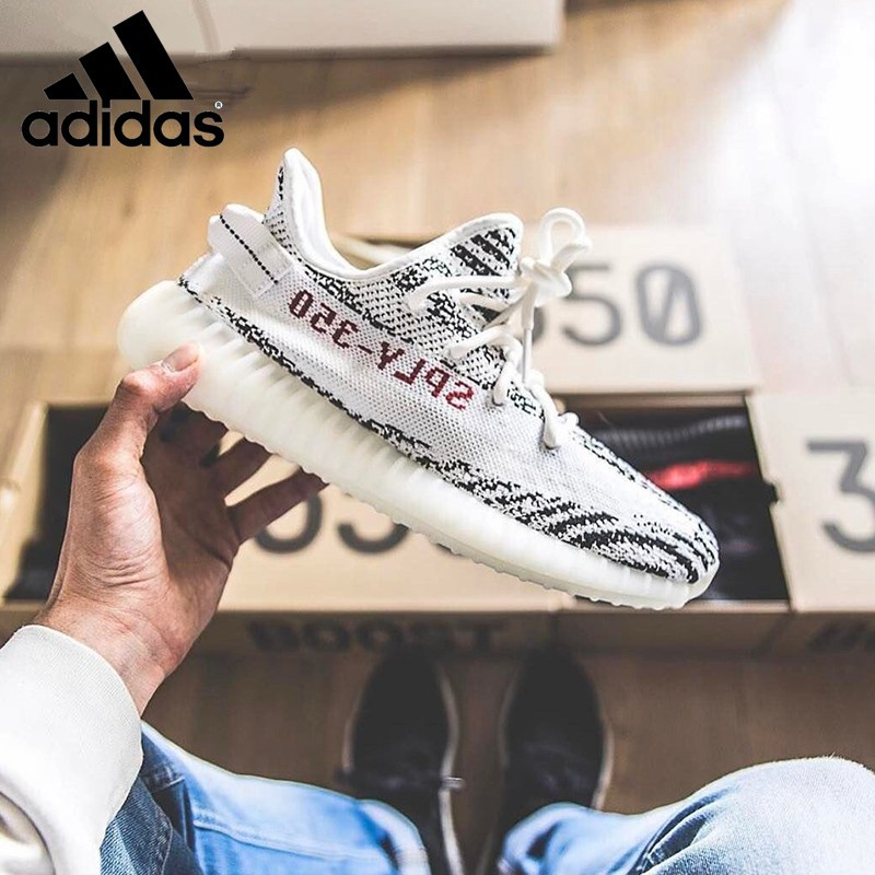 f6290666f78714  ready stock  original Adidas Yeezy Boost 350 V2 white Zebra CP9654 hot  selling