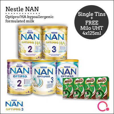 [Nestle][NESTLÉ NAN] Single Tin (NAN OPTIPRO/ HA -Premium Hypoallergenic  Follow Up Formula Milk)
