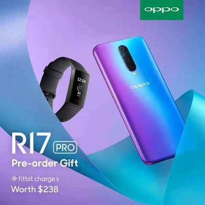 OPPO R17 PRO Smartphone / 2 Years Warranty / Free Fitbit Charge 3
