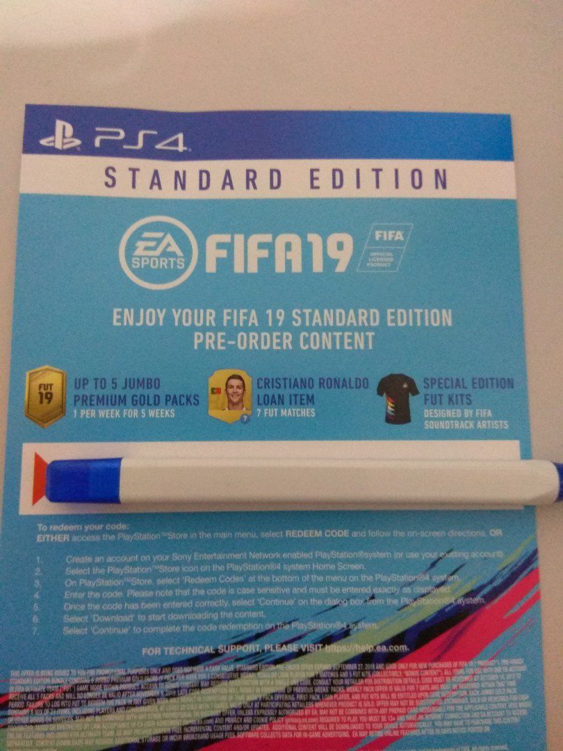 PS4 fifa 19 pre order content - Price in Singapore | Outlet sg