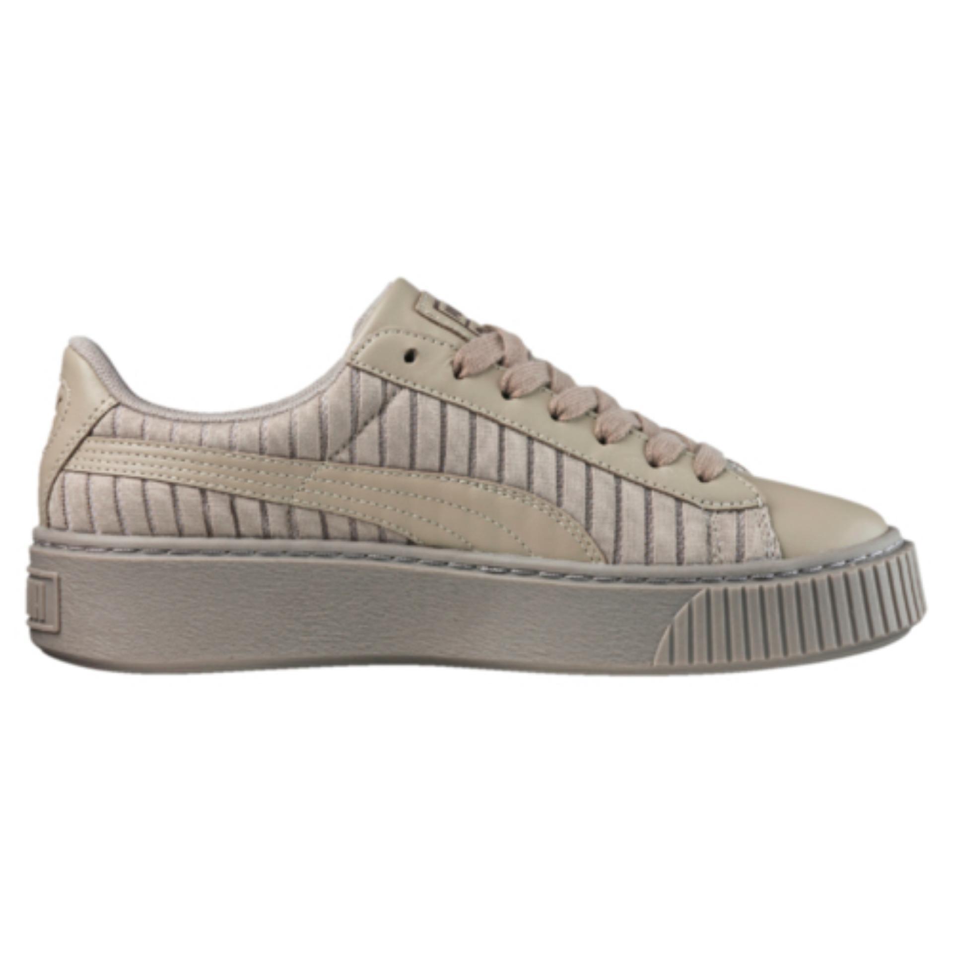 the best attitude fe6a8 7c3ea Puma Basket Platform EP Women Sneakers - Rock Ridge - Price ...