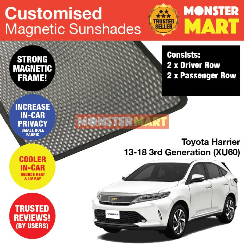 Toyota Harrier 2013 2018 3rd Generation Xu60 Customised Car Accessories Window Magnetic Sunshades 2 Pieces Best Compliment With Car Window Solar