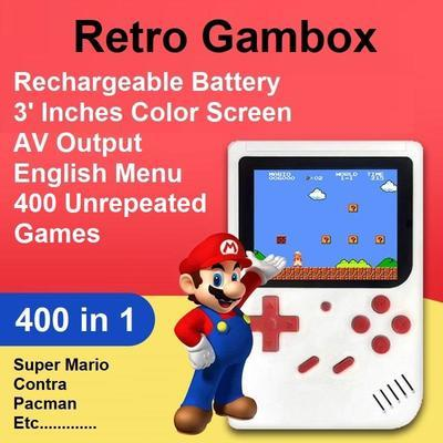 [SG Local Seller]Screen Retro Mini Handheld Game Player Built-in 400 Game  Boy Console Classic Games Player