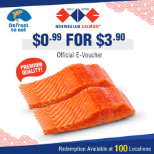 $0.99 for Norwegian Premium Salmon Fillet worth $5.90.