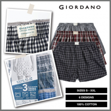 Giordano Cotton Poplin 3-piece boxers pack