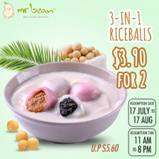 Mr Bean 2 For $3.90 – 3 in 1 Riceballs (U.P. $5.60)
