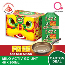 Nestle[NESTLÉ®] MILO® UHT Ready To Drink! 24/48 x 200ml **CNY SPECIAL LION HEAD PACKING**