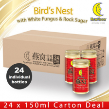 New Moon[24 individual bottles] NEW MOON Bird's Nest with White Fungus Rock Sugar 24 x 150ML