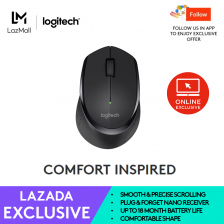 Logitech Wireless Mouse M275 with Textured thumb rest for better grip (Work From Home, Home Based Learning)