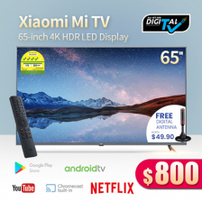 Xiaomi 65-inch 4K Ultra HD Smart LED TV Digital Ready Android TV with Google Playstore Youtube Netflix